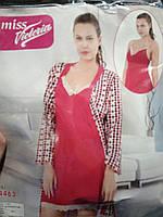 Женская ночная рубашка с халатиком