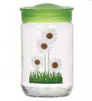 Стеклянная емкость для хранения продуктов herevin 171105-000 с пластиковой крышкой 720 мл Цветы