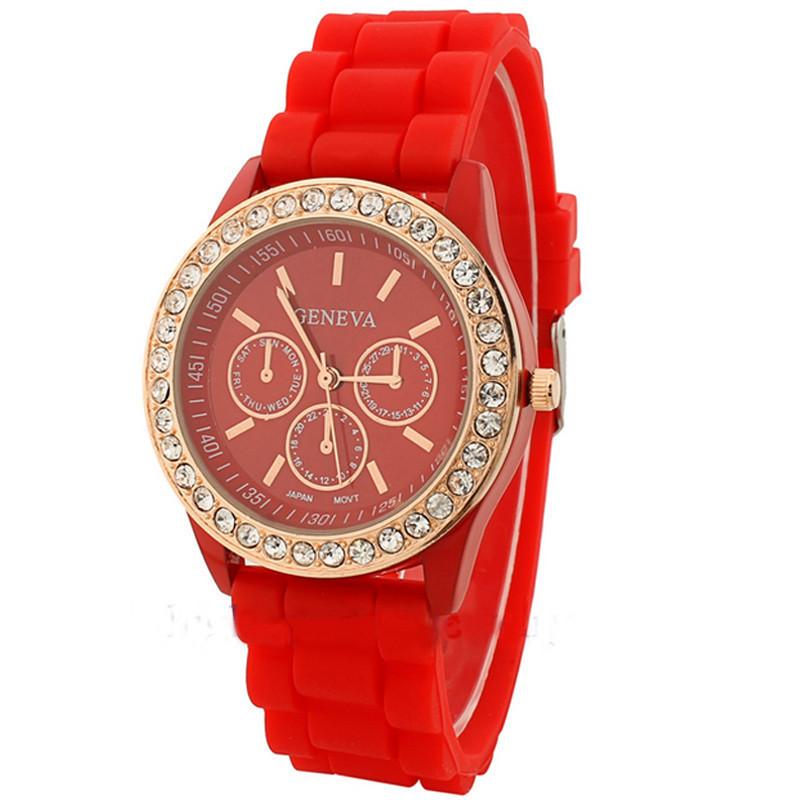 Годинники жіночі Geneva Fashion red (червоний)
