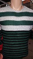 Стильный полосатый свитер подт джинсы