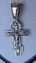 Серебряный крест с золотой вставкой