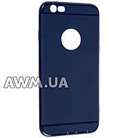 Накладка силиконовая ультра тонкая Case iPhone 6 синий