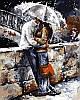 Раскраски для взрослых 40×50 см. Прогулки под дождем Художник Эмерико Имре Тот