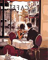 Раскраски для взрослых 40×50 см. Французское кафе Художник Брент Хейтон