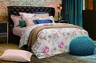 Полуторное постельное белье Пионы, сатин