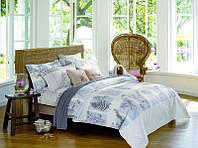Полуторное постельное белье Островная свежесть, сатин