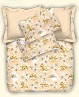 Детское постельное белье Персиковые мишки, бязь (детское)