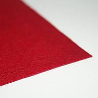 Фетр жесткий красный 1мм  40х50см