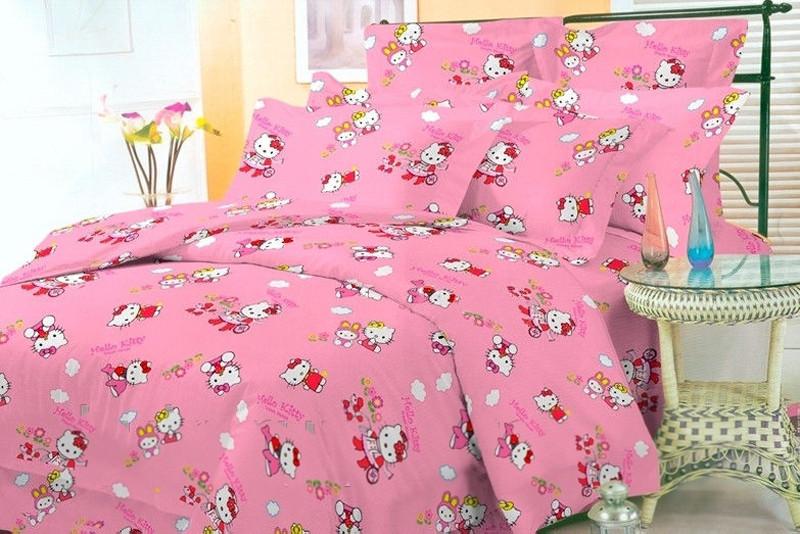 Детское постельное белье Hello Kitty, бязь (подростковое)