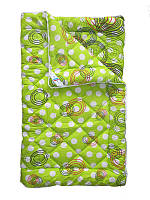 Шерстяное одеяло полуторное, Салатовый горох (155х215 см.)