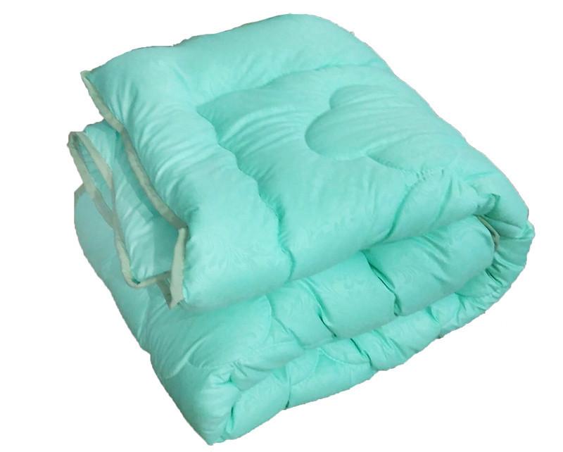 Одеяло евро, силиконовое из микрофибры Салатовое Облако (195х215 см.)