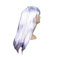 Парик длинный прямой (белый) 151116-003