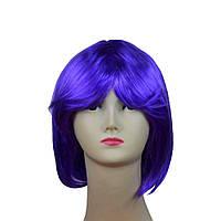 Парик каре фиолетовый 151116-017