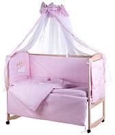 Комплект детского постельного в манеж Qvatro 60748, зайчики