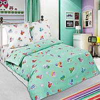 Комплект детского постельного белья Малыш зеленый,поплин