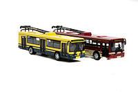 """RUS Модель троллейбус PLAY SMART 6547 """"Автопарк"""" метал.инерц.откр.дв.12шт.в кор.ш.к./8/96/"""