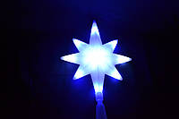 Рождественская светодиодная верхушка на елку голубая