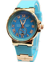 Часы Ulysse Nardin в голубом цвете