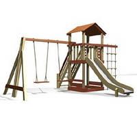 """Игровой комплекс деревянный с песочницей """"Детская площадка"""""""