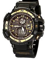 Спортивные часы Сasio G-Shock GW-A1100ADWR Black-gold