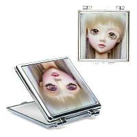 Зеркало карманное голограффическое, квадратное