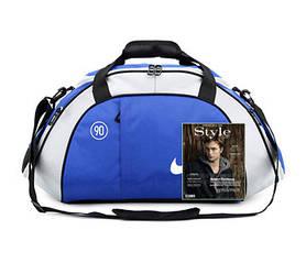 Спортивная сумка Nike синяя с серым (реплика)