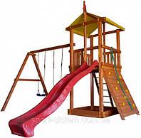 Детский домик площадка из дерева для улицы Беби land-4