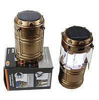 Кемпинговый Фонарь-лампа Solar Zoom Camping Lamp YD-3589 на солнечной батареи