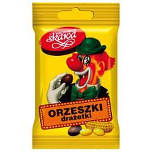 Арахіс в шоколаді Orzeszki drazetki (молочний шоколад і арахіс) 70 р. Польща
