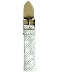 Bros 20 мм кожаный белый ремешок