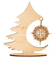F-042 Набор новогоднее украшение из фанеры Рождественская елка