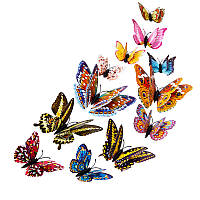 3D стикер декаль наклейка для стены Бабочки, стікер Метелики СМ2