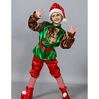 Новогодний костюм гномик, размеры от 110 см до 128 см