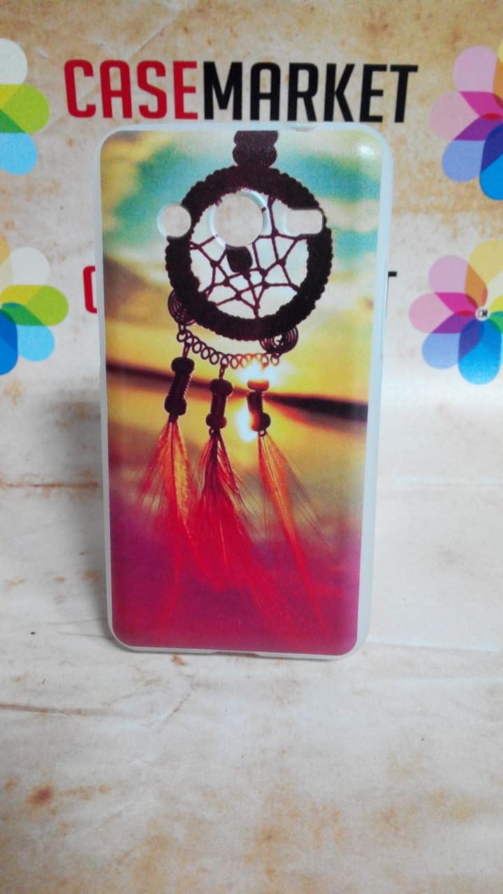 Cиликоновый чехол бампер для Samsung G355 Galaxy Core 2 с рисунком Ловец снов