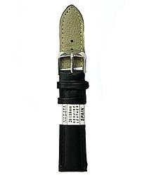 Черный ремешок для часов Nagata 18-20 мм гладкий