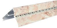 Карниз алюминиевый с косой, мрамор розовый