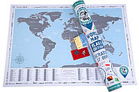 Скретч карта Discovery Flags Edition Флаги (англ. язык)