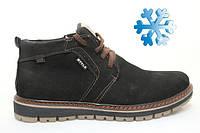Недорогие зимние кожаные мужские ботинки на меху