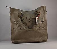 Стильная серая женская сумка 8168