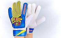 Рукавиці воротарські юніорські FB-0029-11 (6) BARCELONA (PVC, р-р 5,6,7 жовтий-синій-червоний)