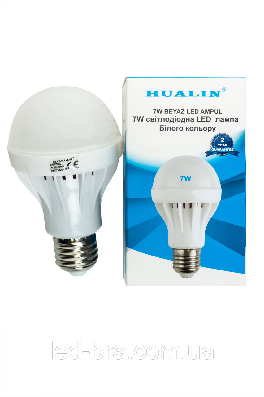 Led лампа HUALIN 7W E27 6400K