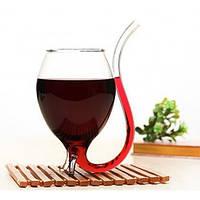 Бокал для вина Вампир 250мл круглый с трубочкой бокал-трубка подарок на 8 марта