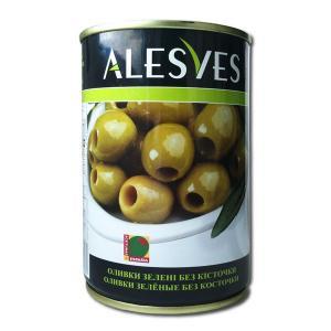 Оливки Alesves (Алесвес зеленые без косточек) 300 г. Испания