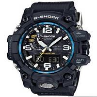 Спортивные наручные часы Сasio G-Shock Mudmaster с синей вставкой