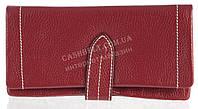 Качественный женский кожаный кошелек с мягкой кожи SALFEITE art. 12250 темно красный