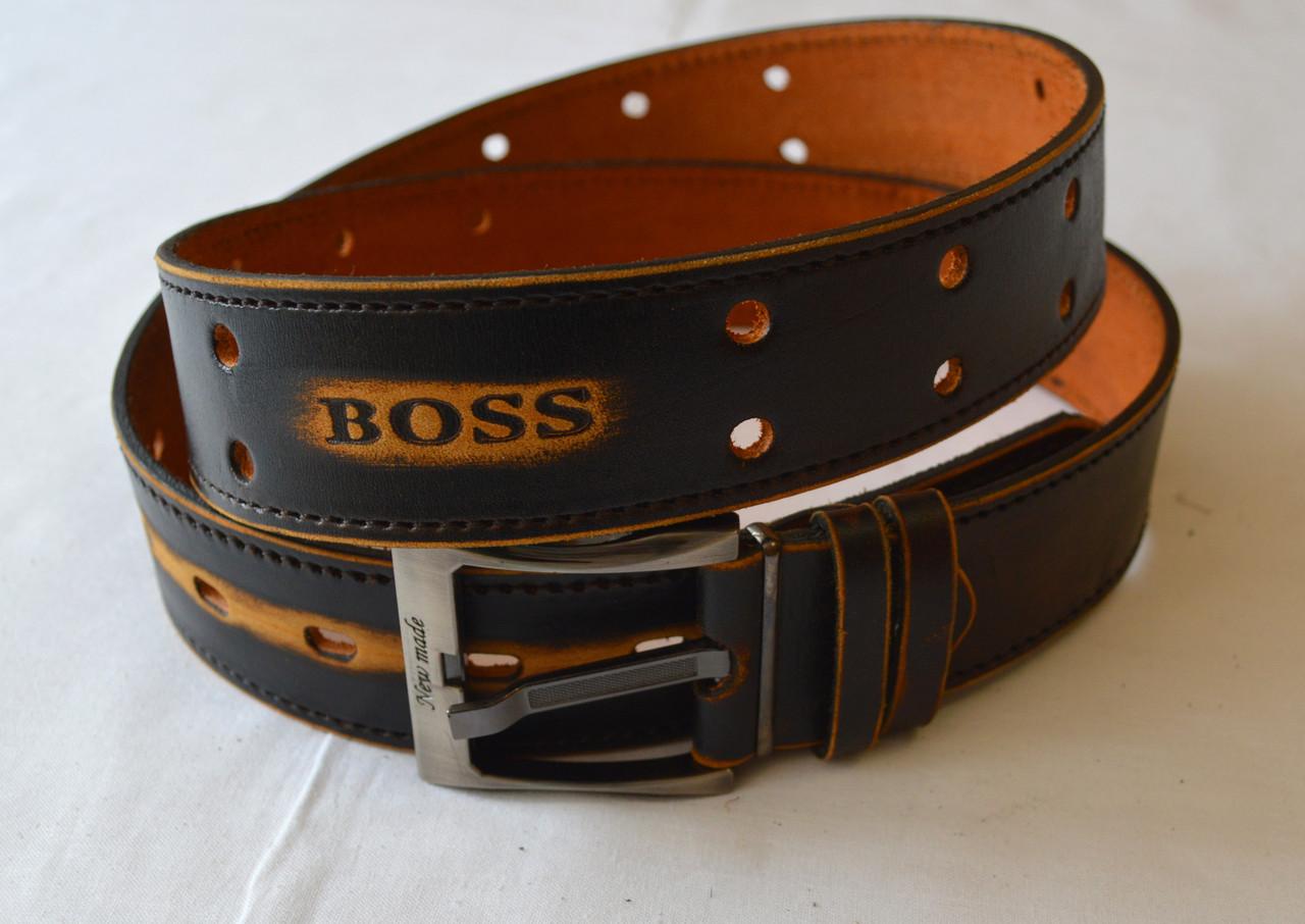 Кожаный мужской ремень boss кожаные ремни мужские версачи