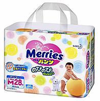 Трусики японские Merries (Мерриес) M (6-10кг) 28шт.