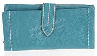 Качественный женский кожаный кошелек с мягкой кожи SALFEITE art. 12250 бирюзовый