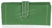 Качественный женский кожаный кошелек с мягкой кожи SALFEITE art. 12250 зеленый