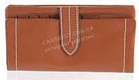 Качественный женский кожаный кошелек с мягкой кожи SALFEITE art. 12250 коричневый